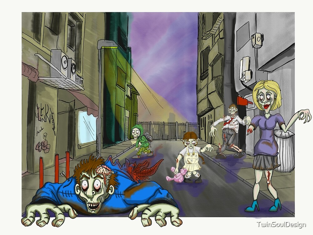 family of zombies by TwinSoulDesign