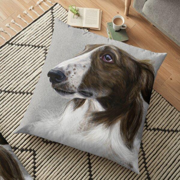 Portrait of Igor the Borzoi Floor Pillow