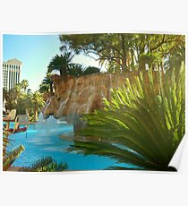 Mirage Casino Pool area ~ Las Vegas, Nevada Poster