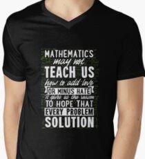 Mathematics May Not Teach Us Love Math Geek Nerd Science Tee Men's V-Neck T-Shirt