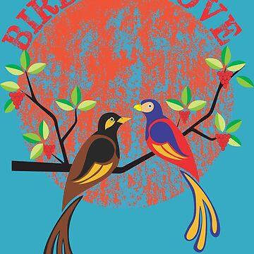 Birds in love by Shreekumar
