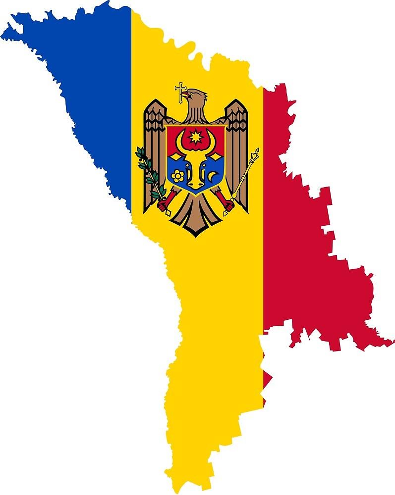 Moldova Continent Flag by PRODUCTPICS