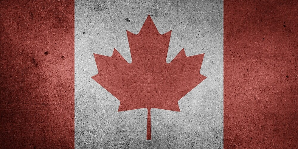 Vintage Grunge Canada Flag by PRODUCTPICS