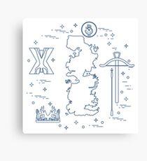 Symbols of the fantasy television series. Canvas Print