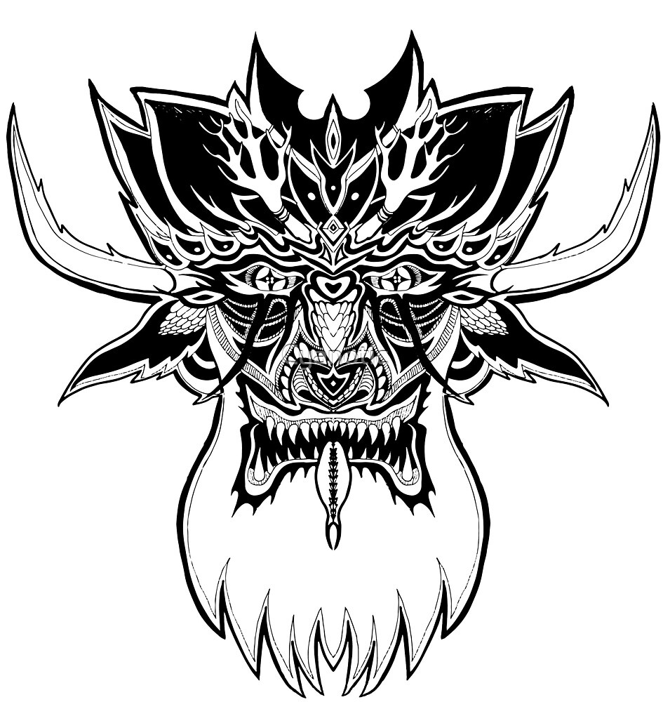 Beard Demon by Cyanotic