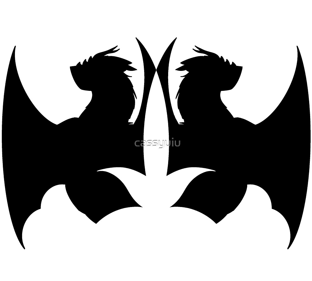 Double Dragon Silhouette by cassyuiu