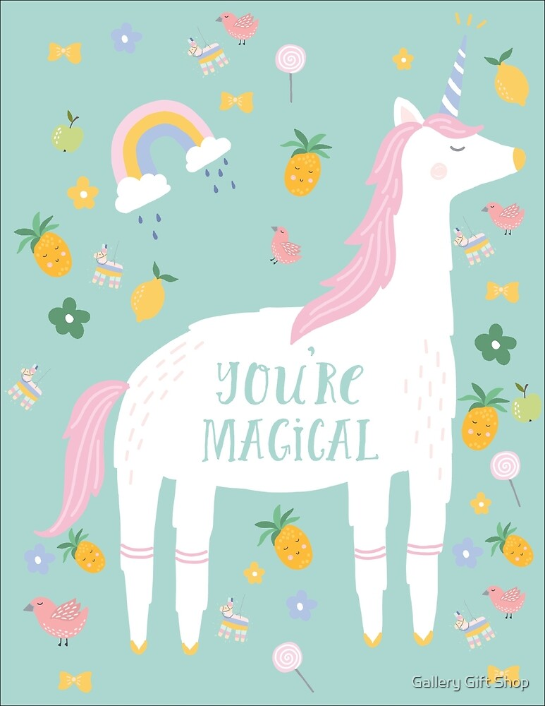 unicorn you're magical by paper coat paper co.