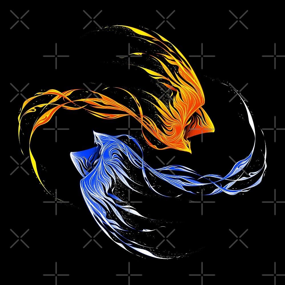 Phoenix Ice And Fire by tobiasfonseca