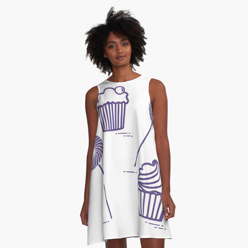 Lollipops and cakes. A-Line Dress Front