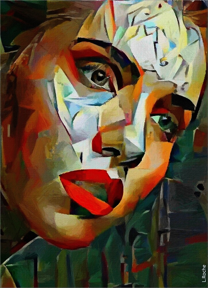 Youth power, Léa Roche paintings - Face, woman, youth by LEAROCHE