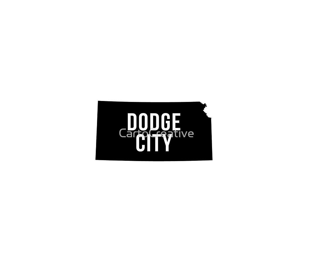 Dodge City, Kansas Silhouette by CartoCreative