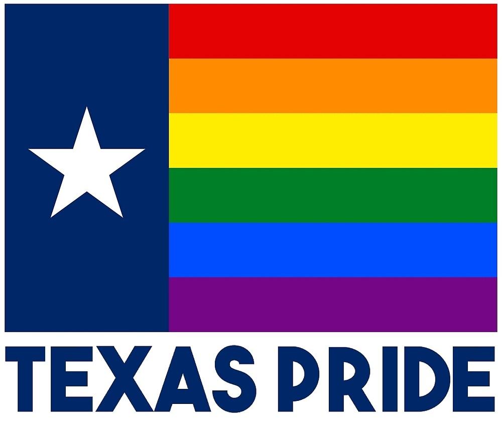 Texas LGBT Gay Pride Rainbow Flag by Martstore