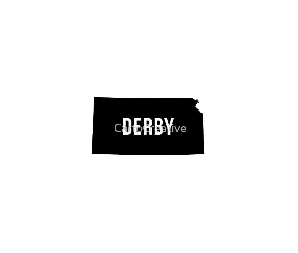 Derby, Kansas Silhouette by CartoCreative