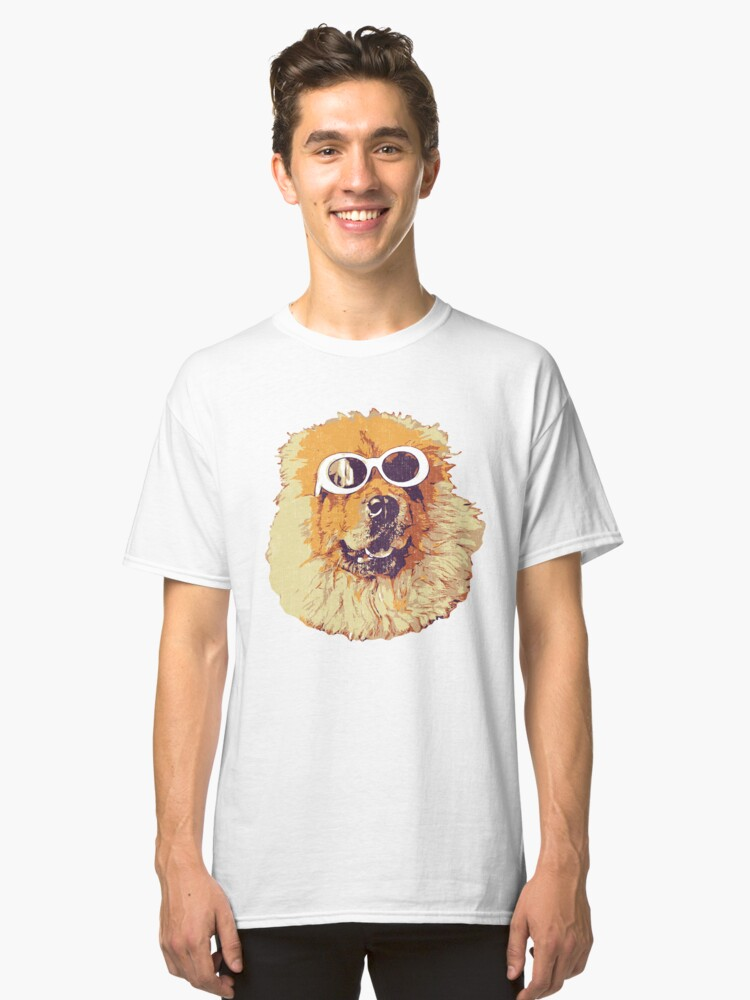 Chow Chow Dog With Glasses Classic T-Shirt Front
