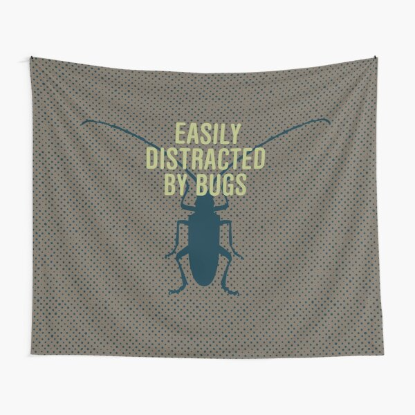 Distracted By Bugs Tapestry