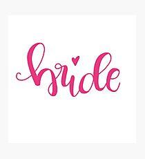 bride II - pink Photographic Print