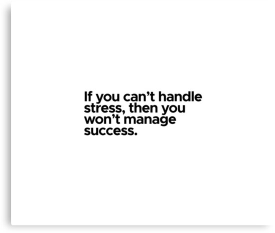Motivational / inspirational quote - If you can't handle stress, then won't manage success by 47T-Shirts