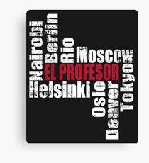 El profesor and Team Canvas Print