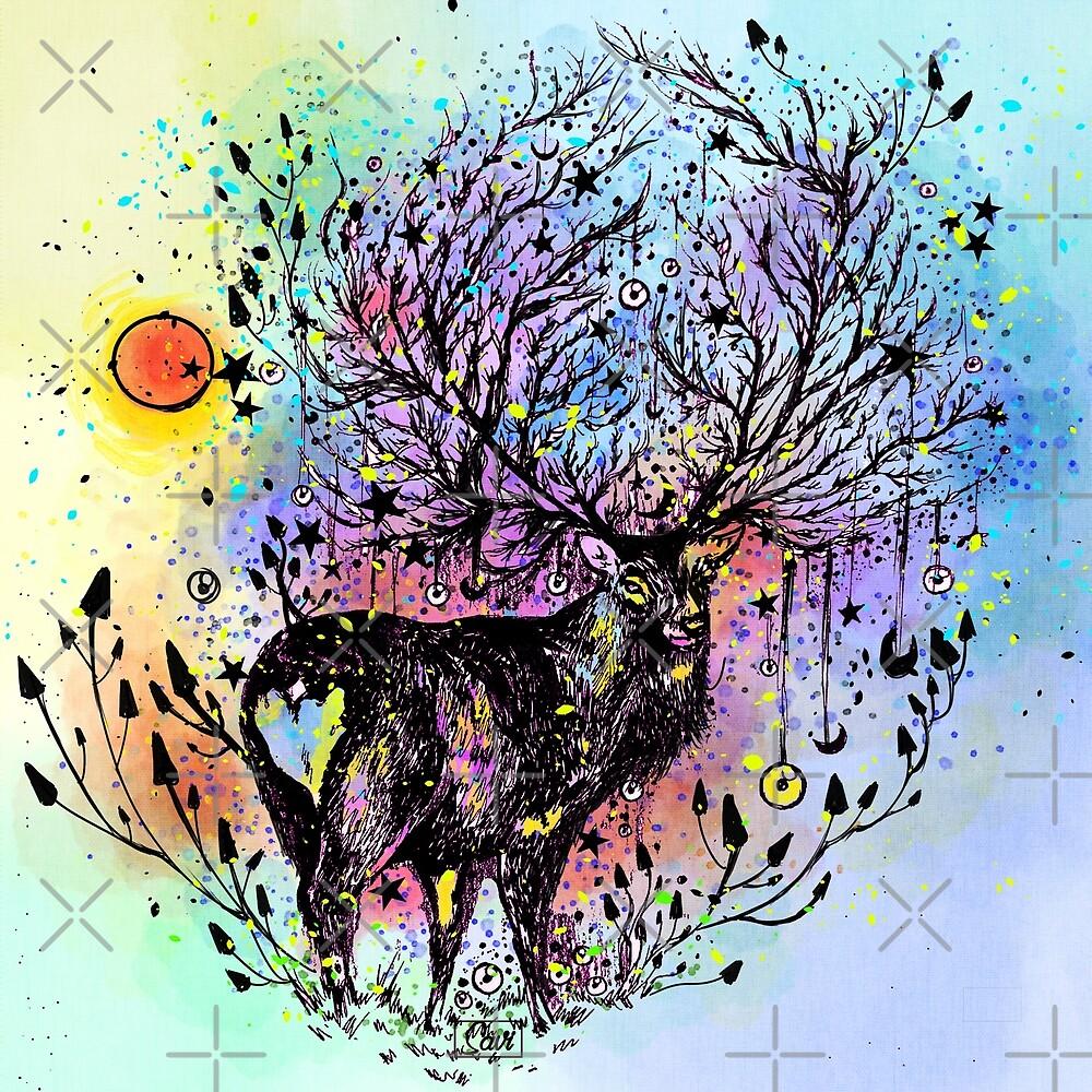 Cosmic Deer  by Savi Singh