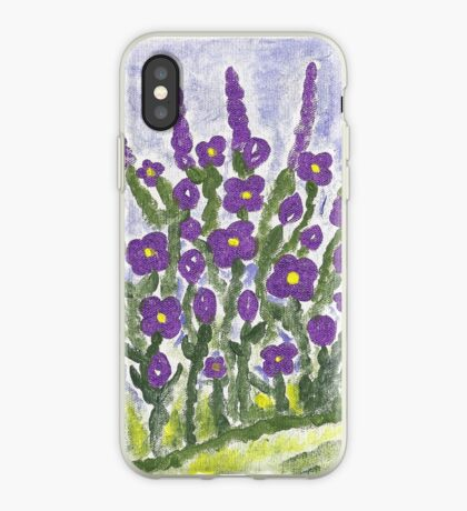 Painted Purple iPhone Case