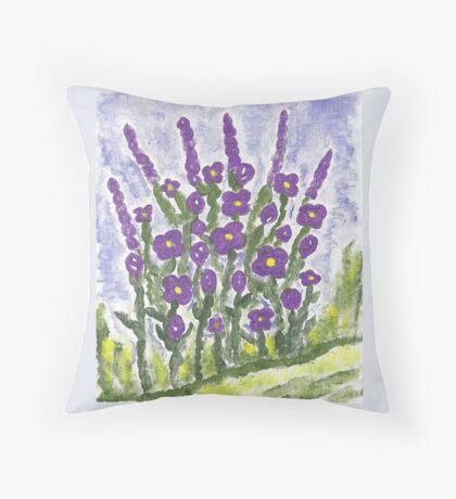 Painted Purple Floor Pillow