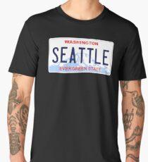 Seattle license plate Men's Premium T-Shirt