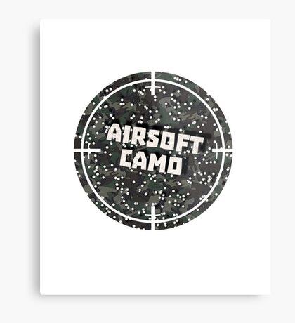 Airsoft Camo Metal Print