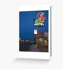 Route 66 and the El Don Motel, Albuquerque Greeting Card
