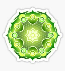 MANDALA, Green, Ecology, Nature Sticker