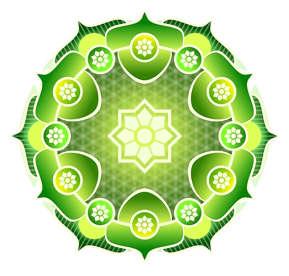 MANDALA, Green, Ecology, Nature by TOM HILL - Designer