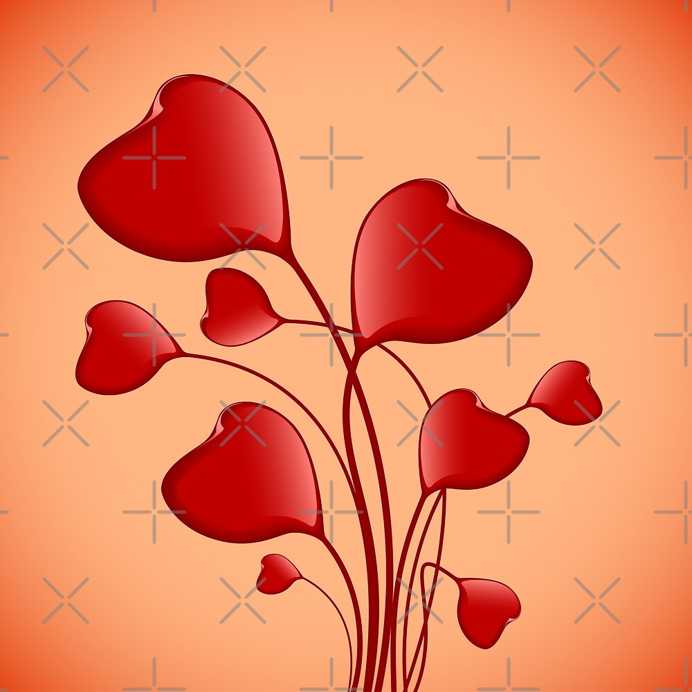 Red Hearts for Valentines Day by -WaD-