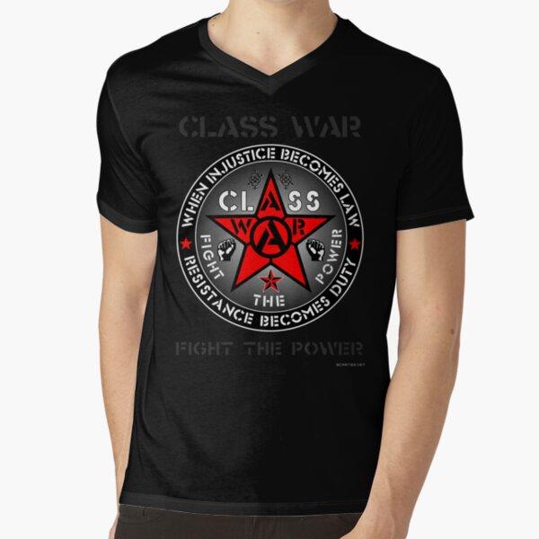 CLASS WAR - FTP V-Neck T-Shirt
