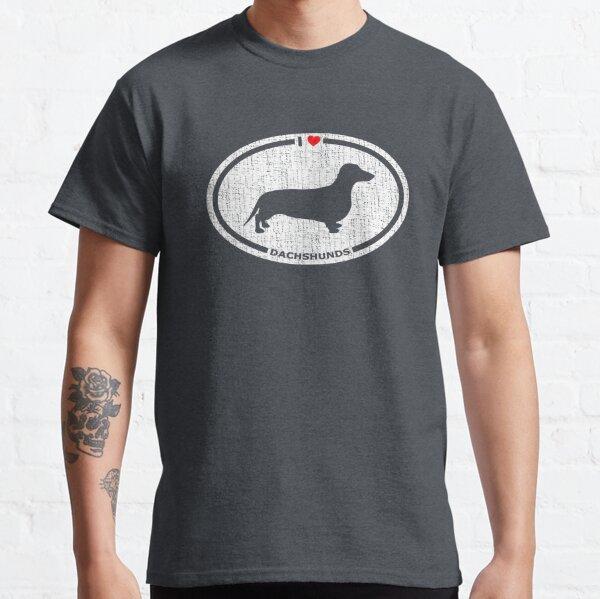 I Heart Dachshunds T-Shirt for Dog Lovers Classic T-Shirt