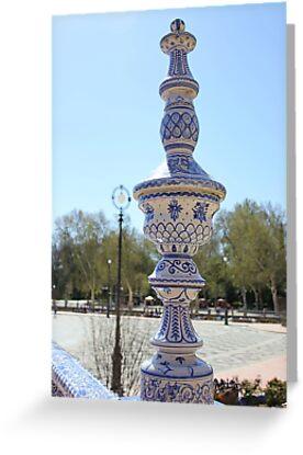 Balustrade, Plaza de Espana, Seville, Spain by Seller2018KF
