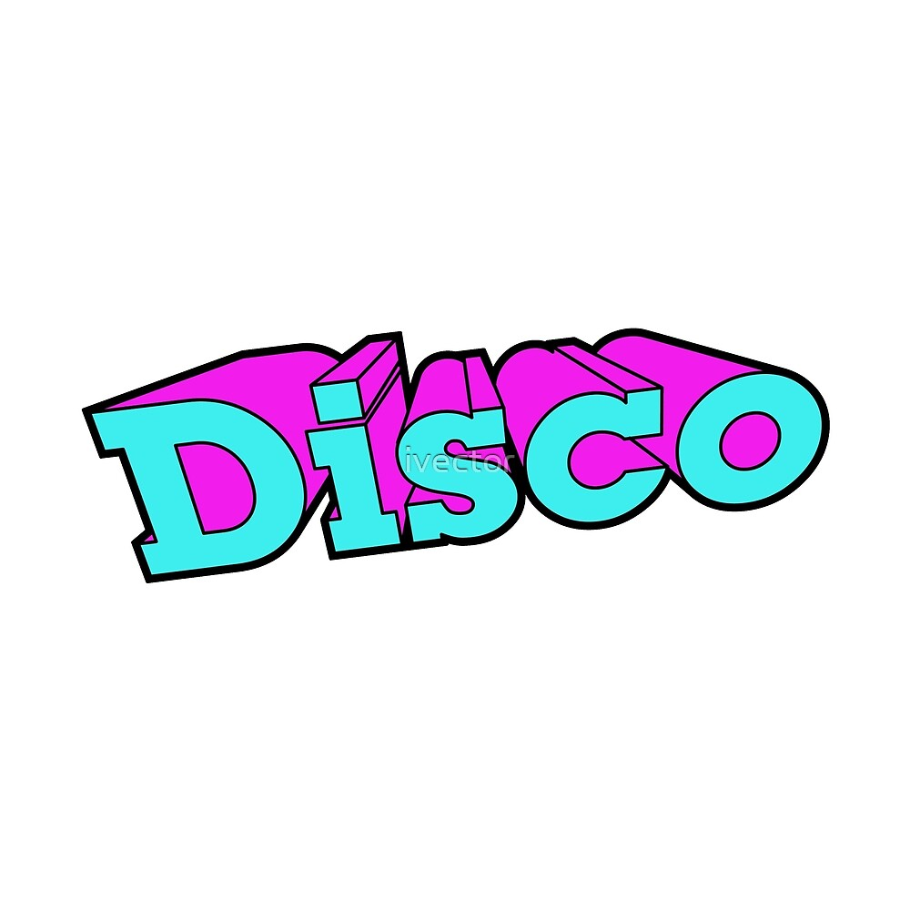 Disco Party Retro Fashion Elements by ivector