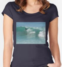 Surfing Burleigh Style #2 Women's Fitted Scoop T-Shirt