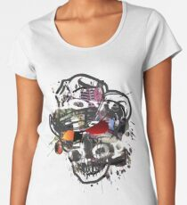 Skulls Love Is Dope Graphic Print Swag  Women's Premium T-Shirt