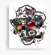 Skulls Love Is Dope Graphic Print Swag  Canvas Print