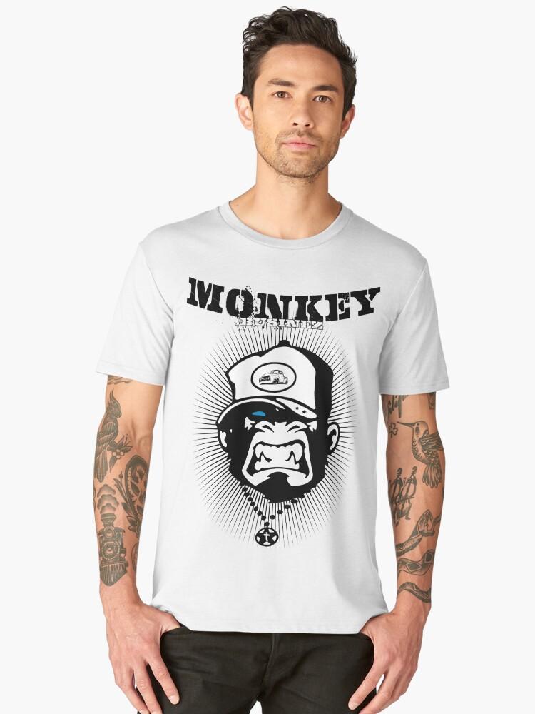 Monkey Businez - PickUp Design Rocker Surfer New Skull Men's Premium T-Shirt Front