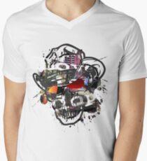 Skulls Love Is Dope Graphic Print Swag  Men's V-Neck T-Shirt