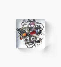 Skulls Love Is Dope Graphic Print Swag  Acrylic Block