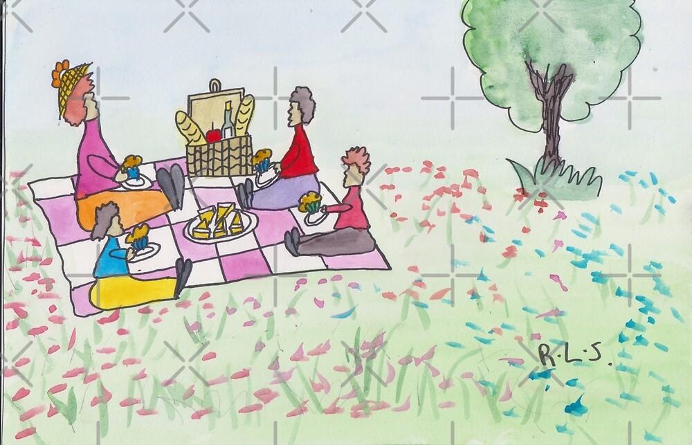 Summer picnic by ArtistRebeccaLS