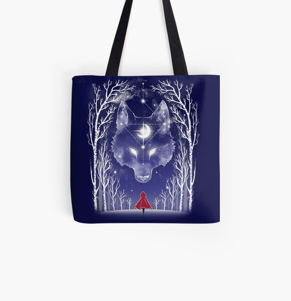 Starry Red Riding Hood All Over Print Tote Bag