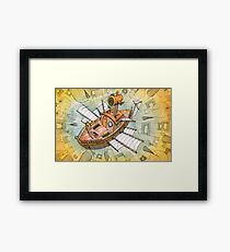 The Sky Ship Framed Print