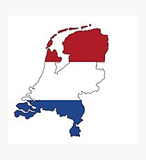 Netherlands Continent Flag Photographic Print