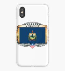 Vermont Art Deco Design with Flag iPhone Case/Skin