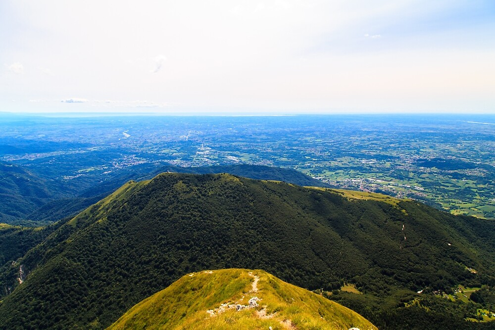 On the summit of an alpine peak by zakaz86