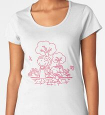 Cartoon Pink Women's Premium T-Shirt