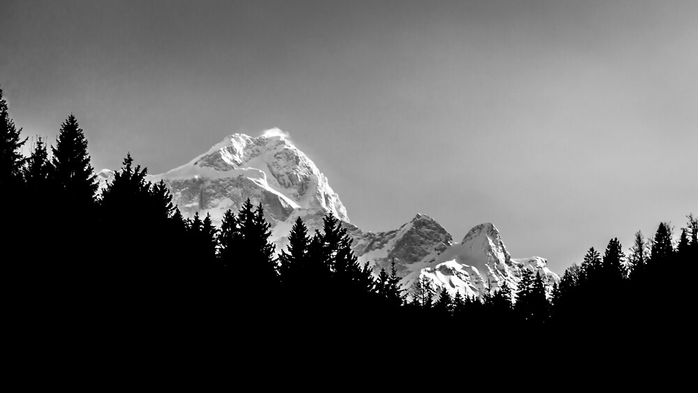 Sun goes down on Mangart, Italian alps by zakaz86