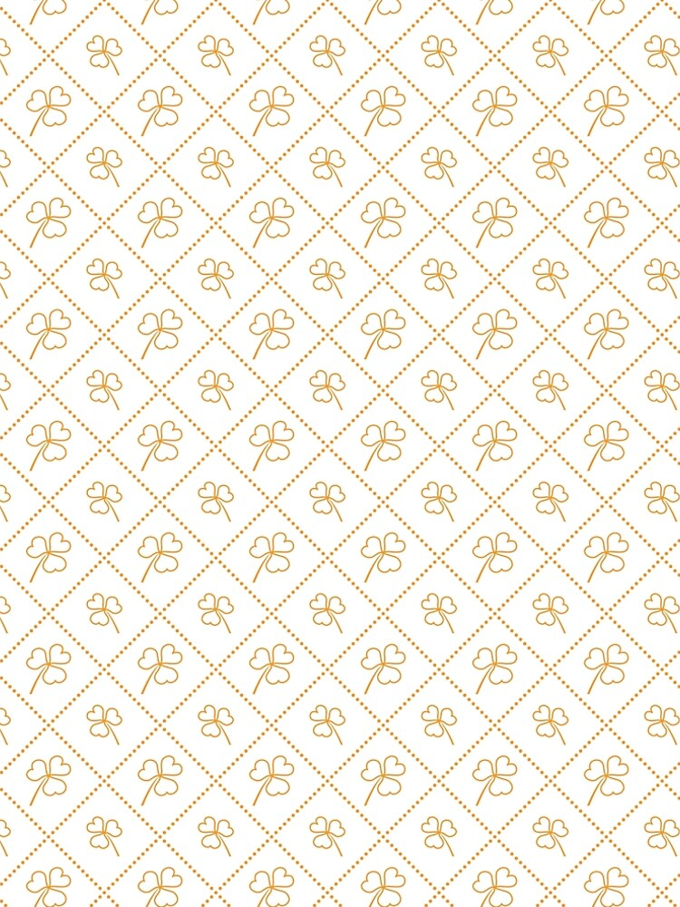 Seamless pattern with clover leaves. by aquamarine-p